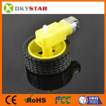 electric motor dc 12v TT motor DC motor + supporting wheels , a / smart car chassis, TT motor / robot car wheels