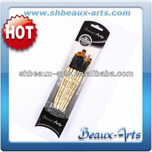 Artist quality supermarket price wooden hair brush artist paint brush art sets
