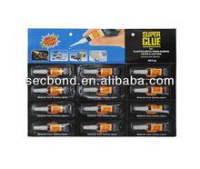 OEM super glue small card in 3g tube 12pcs super glue