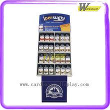 Pet Food Promotion Pocket Corrugated Paper Display Stand