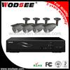 4 outdoor 700tvl cctv cameras and 4ch icloud H.264 CCTV DVR KIT