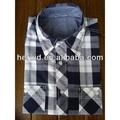 Mais recente de boa qualidade algodão de manga curta camisa dos homens de flanela