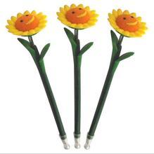 2014 wholesale cute novelty design pretty spring sunflower shape ball pen 05mm