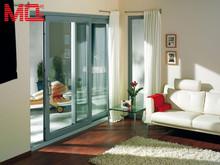 modern large double glazing glass sliding doors aluminum window and door manufacturer