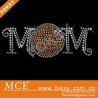 wholesale Basketball Mom Rhinestone Iron On Transfer design For Sports Shirts