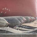 هوائي العائمة نفخ سفينة إطلاق/ الهبوطالتراوت/ liftting الثقيلة وسائد هوائية للمطاط، ترقية