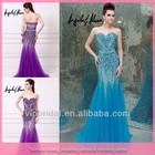 DL1236 High end customize sparkling beaded long model kebaya dress