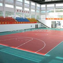 Wooden basketball flooring