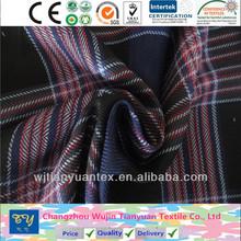 fashion shirt garment yarn dyed 100% rayon viscose single-side brushed fabric