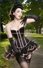 New fashion sexy black corset dress wholesale exotic dance wear China adult sex kostume