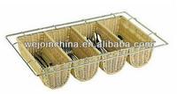 Flatware Basket Wicker Basket for Kitchen Cabinet Cultery Tray
