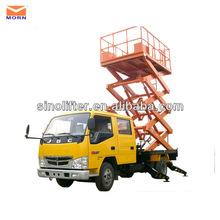 Vertical work platform/truck-mounted man lift