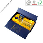 Luxury high end custom decorative wine box with clear window and rigid tray ex factory price