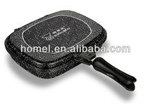 28cm cermic aluminum double sided non-stick frying pans