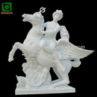 Garden Large Marble Man with Horse Statue