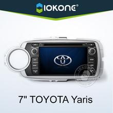 "2012 factory 7"" HD 2 din touch screen radio gps toyota yaris TMC, camera, mic, dvb-t"