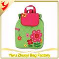 flor acolchoado mochila de meninos e meninas da escola saco