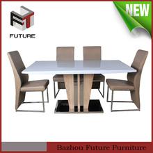 Modern metal de madeira novo design eua mesas e cadeiras