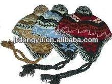 knit pattern for winter cap earflaps