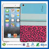 C&T Multicolor red leopard pattern blue rubber for ipad mini case