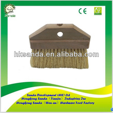 wood block roof paint brush with tampico bristle