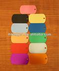 oxidized aluminium dog tag,custom oxidation metal military pet tag,colorful anodized dog tag