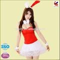 Hot sexy natal vermelho de veludo sexy bunny traje infantil, fantasias de coelho para as mulheres