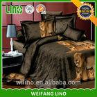 animal bed sheet fabric/duvet cover tiger/american microfiber bedsheets