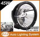 Chinese Factory 45w cree led driving lights round 7 inch for off road jeep suv tractor truck