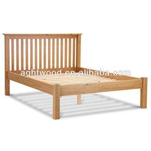 wood bedroom furniture-lastest wood slatted double bed design