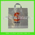 El logotipo impreso flexi suave mango tórico bolsa para ir de compras/ropa/zapatos/la promoción