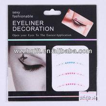 rainbow eyeliner sticker decorated eyes tattoos/ temporary eye decor stickers