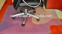 Transparent 90*120cm PVC chair mat protective carpet rug