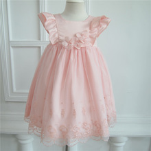 NEW ARRIVAL ! Free shipping 100% cotton lining wholesale frock design for baby girls 73cm 80cm 90cm 100cm
