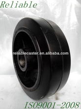 """Hot Sale 6x2"""" with cast iron steel core solid black rubber wheels"""