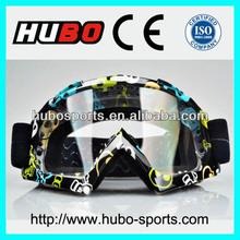 Water printing custom logo flexible frame motorcycle helmet glasses