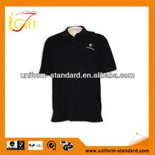 2014 New desgin & top quality short sleeve black polo fleece