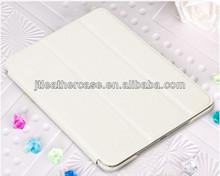 Luxury Ivory white stand case for ipad mini folio leather case foldable pu case
