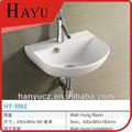 Hy-3062 wall hung bacia cerâmica cabelo salão de pia de lavagem