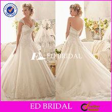 HY056 2014 lace a line open back long train description of wedding dress