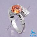 design di lusso in acciaio chirurgico 2014 diamante anello di nozze