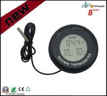 2015 Best Selling Black Digital Aquarium/Reptile Thermometer with Max Min