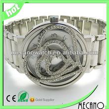 Fashion rose flower heart watch with Japan quartz watch watches for women