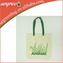 Natural white waxed canvas tote bag/canvas bag