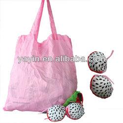 Waterproof nylon folding shopping bag with fruit shapes