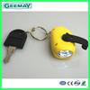 mini hand crank led flashlight charger dynamo flashlight solar led keychain