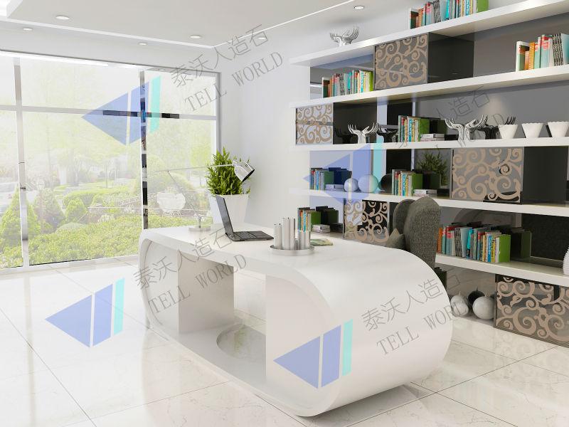 Moderne kantoor tafel kantoor bureau te koop wit luxe studeerkamer bureaus kantoortafels - Moderne kantoorbureaus ...