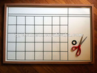 Magnetic Printed Whiteboard With Wooden Frame