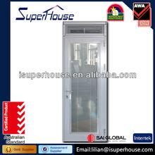 Aluminium door glass inserts blinds grills door meet Australia standard AS2047