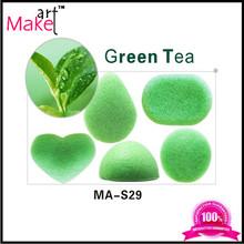 100% Natural Green Tea Konjac Sponge/Only Natural Fiber Konjac Sponge Facial and Skin care